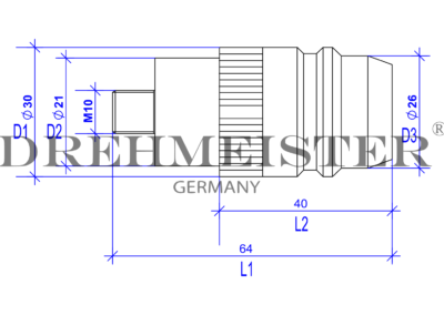 DREHMEISTER Euronozzle адаптер за зареждане с външна резба M10