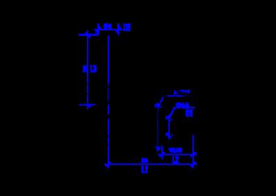 Технически чертеж на DREHMEISTER фитинг на 90° 8мм-8мм за термопластична тръба