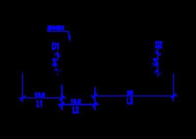 Технически чертеж на DREHMEISTER  прав фитинг 6 mm- 6 mm за термпластичен маркуч