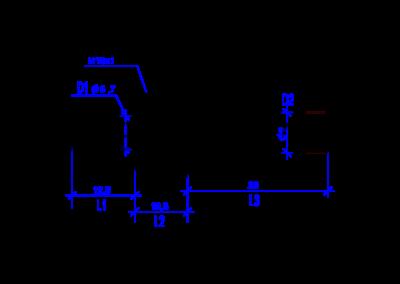 Технически чертеж на DREHMEISTER прав фитинг 6 mm- 8 mm за термпластична тръба