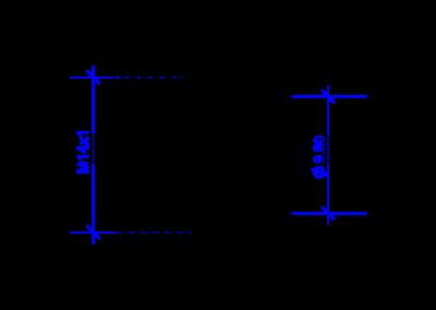 Технически чертеж на DREHMEISTER M14x1 гайка за термопластична тръба 6 mm