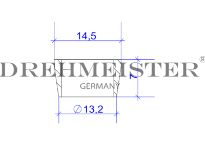 Технически чертеж на DREHMEISTER леща за термопластична тръба 8 мм
