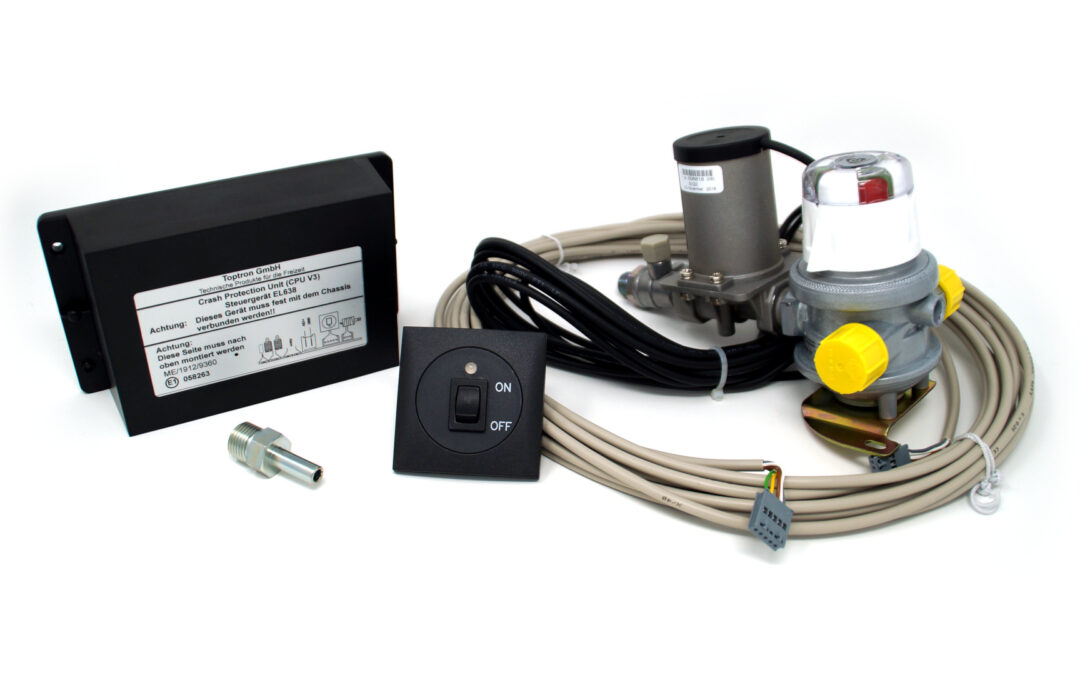 """""""Heating while driving"""" with electronic crash sensor system"""
