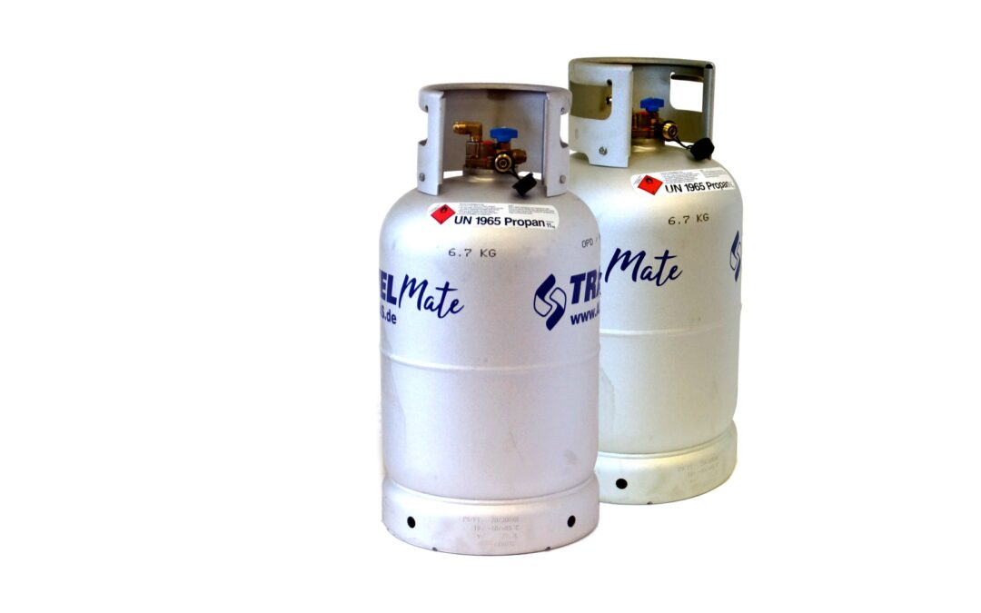 ALUGAS Travel Mate бутилки за газ с TÜV до 2030