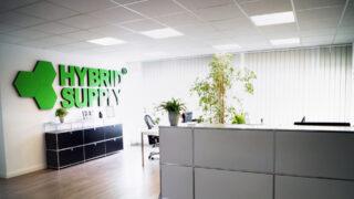 Рецепцията на офиса на HybridSupply в Германия, Любек, Щелмахерщрасе 9, DE-23556