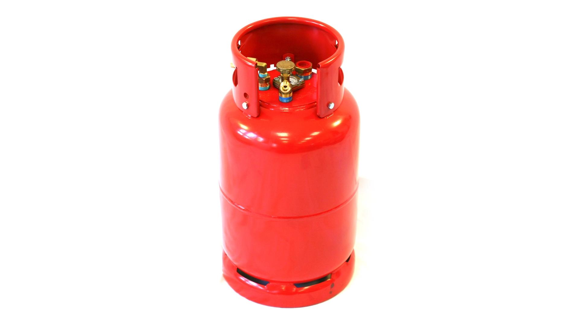 Газова бутилка GZWM 36 литра с 3-точков клапан