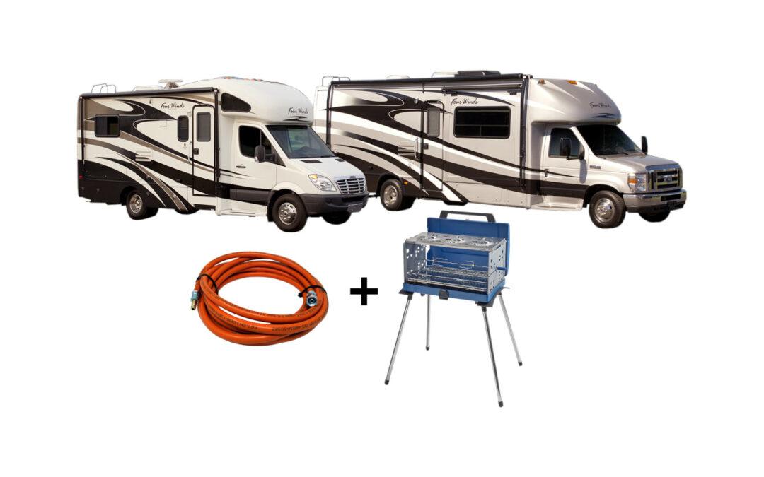 Газови маркучи за външно използване на газ в кемпери и каравани