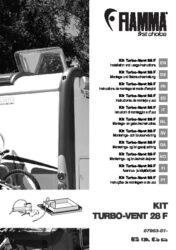 Ръководтсво за монтаж Kit Turbo-Vent 28 F